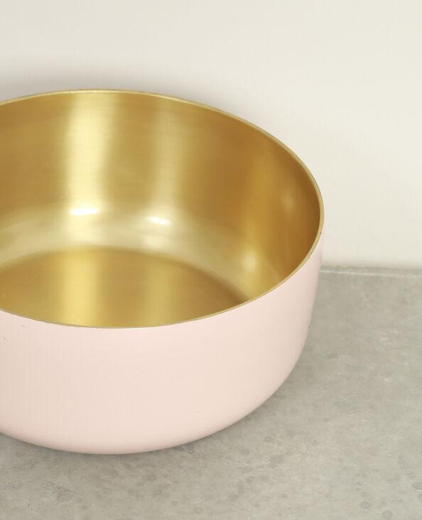 Piatto laccato bicolore rosa