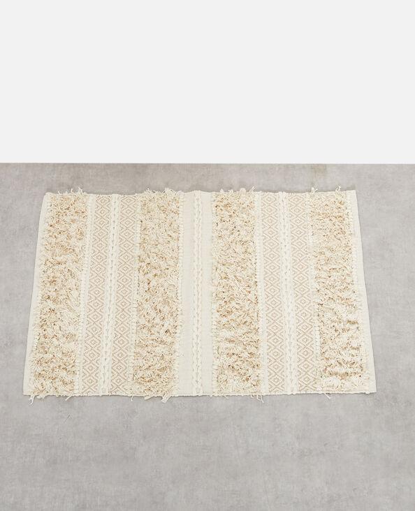 Teppich mit Lurex-Effekt Altweiß