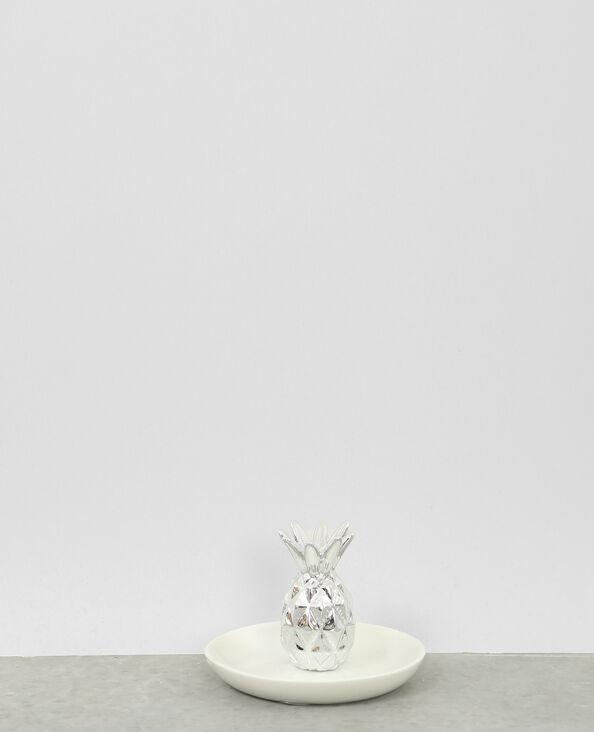 Kleine Ablageschale Ananas Silber