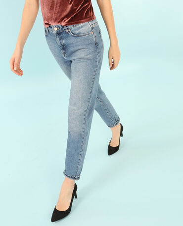 Girlfriend-Jeans Denimblau