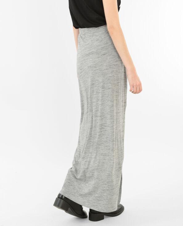 Falda larga gris jaspeado