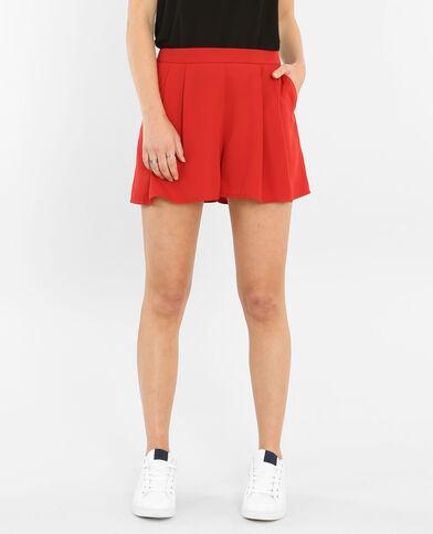 Short morbido rosso