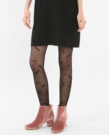 Collants avec wording noir