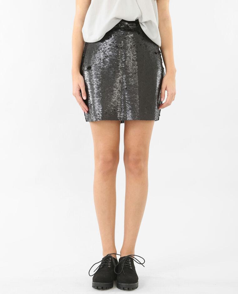 Mini jupe sequins noir