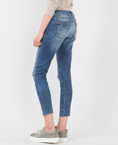 Jeans skinny tagli sulle ginocchia blu