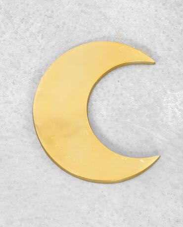 Decorazione da parete luna dorato