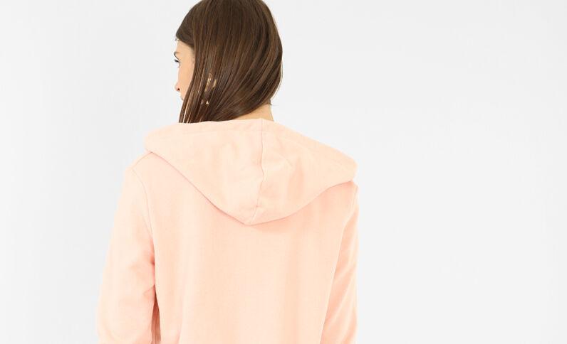 Chaqueta con capucha rosa