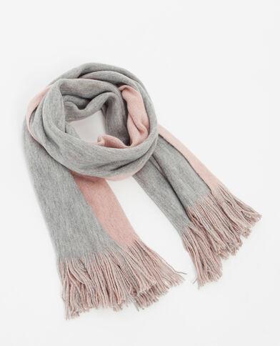 Doppelseitiger Schal Grau