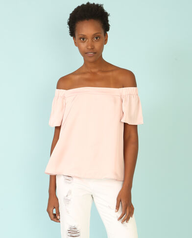 Blusa satinada rosa