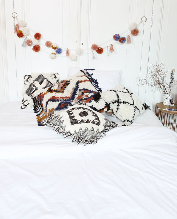 Guirlande à pompons blanc