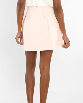 Falda corola rosa
