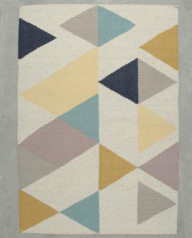 Grande tappeto multicolore e silver corallo