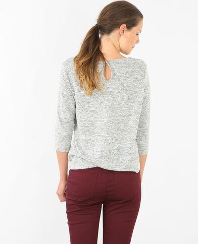 Jersey suave con bisutería gris