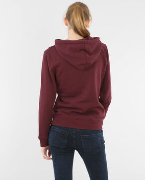 Sweatshirt mit Schriftzug Bordeauxrot