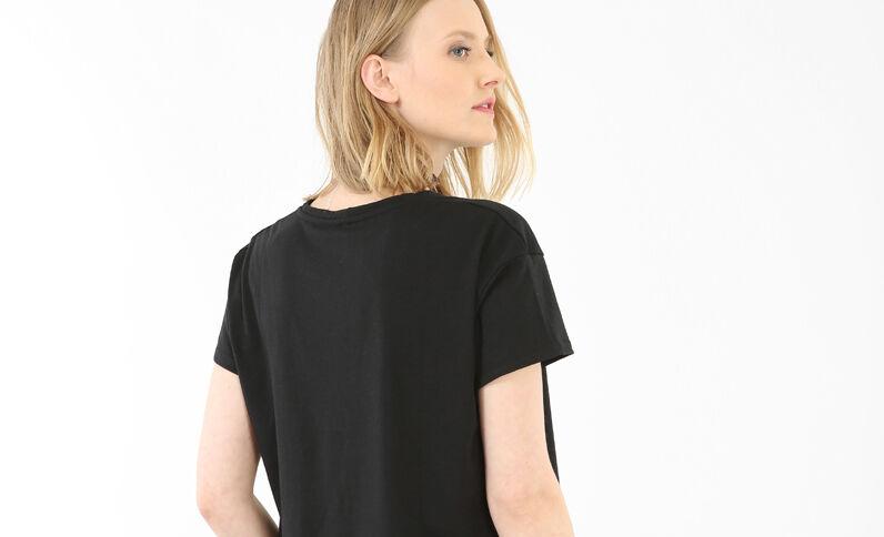 T-Shirts mit Patches Schwarz