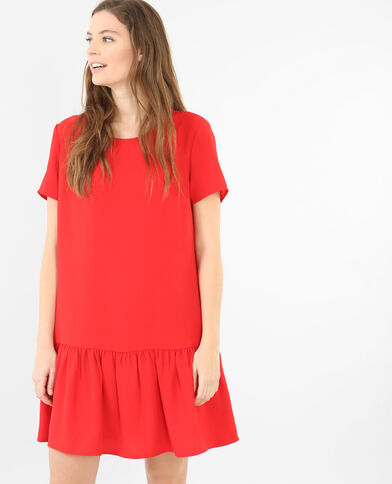 Robe à basque rouge