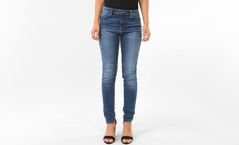 Push-up Skinny Jeans Denimblau