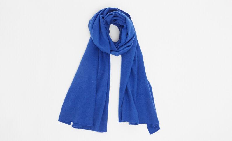 Sciarpa morbida blu