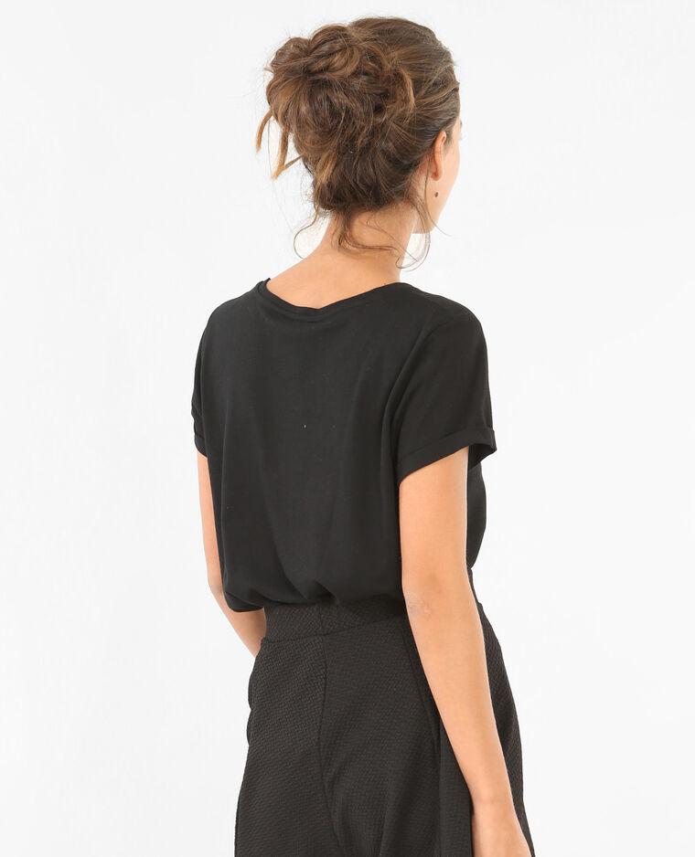 t shirt mit schriftzug schwarz 403263899n89 pimkie. Black Bedroom Furniture Sets. Home Design Ideas