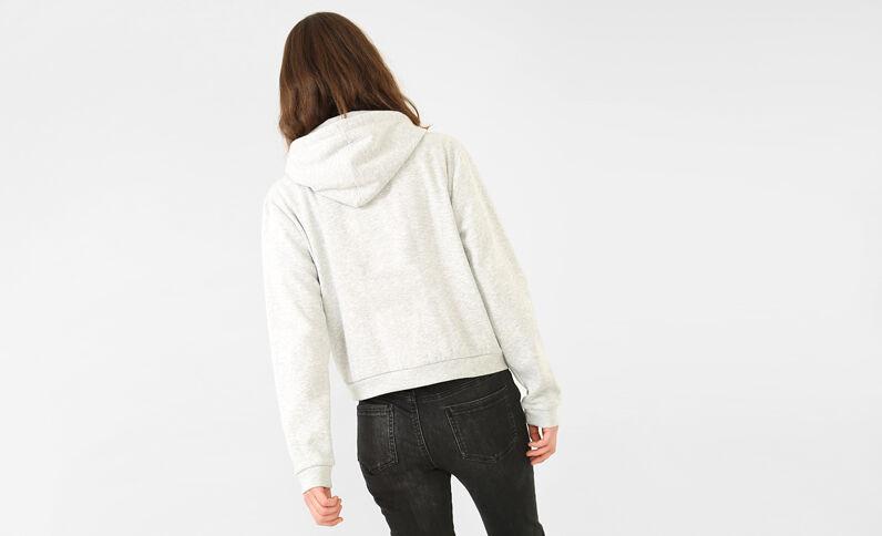 Sweater met opschrift. grijs