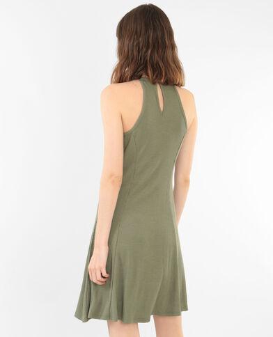Vestido trapecio verde