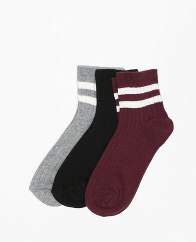 Lote de calcetines cortos gris