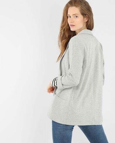 Jacke aus Jersey Perlgrau