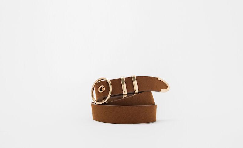 Cintura marrone caramello