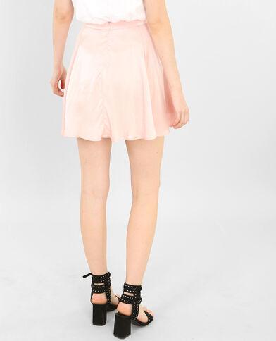 Seidig glänzender Minirock Rosa