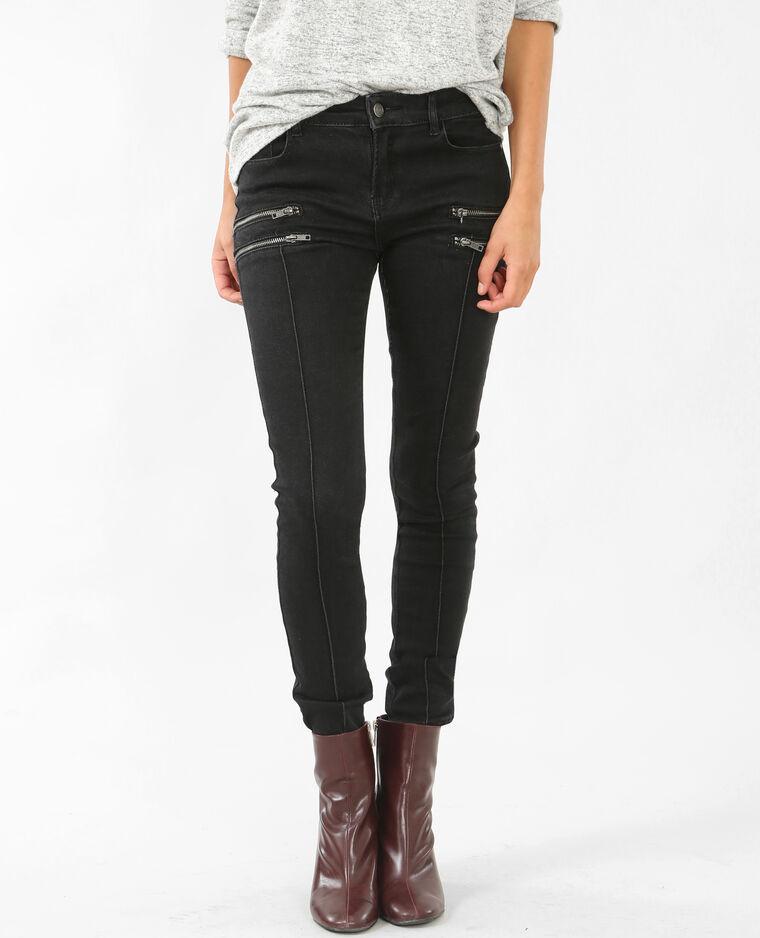 skinny jeans mit rei verschluss schwarz 142058899a08. Black Bedroom Furniture Sets. Home Design Ideas