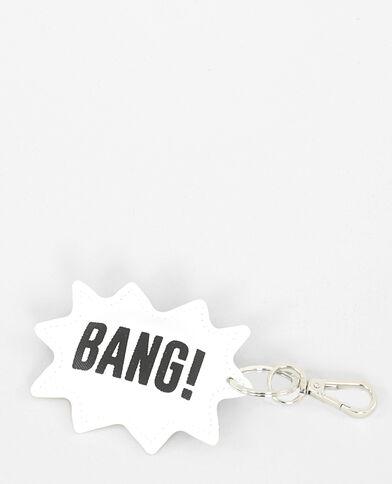 """Porte-clés """"BANG"""" blanc cassé"""