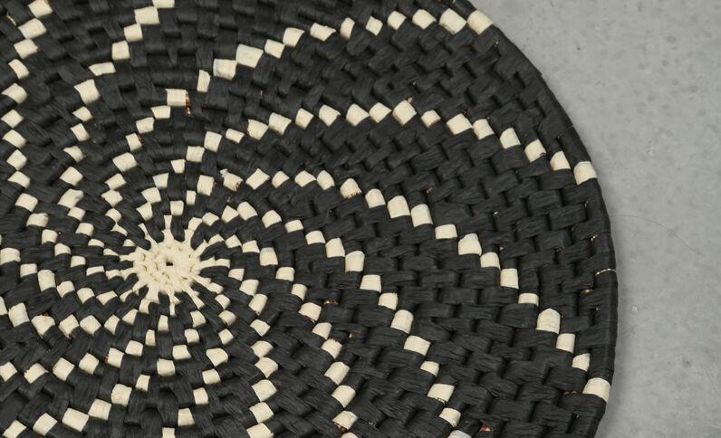 Muurkorfje in Berberstijl zwart