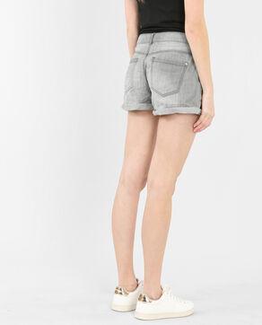 Shorts mit Umschlag Grau