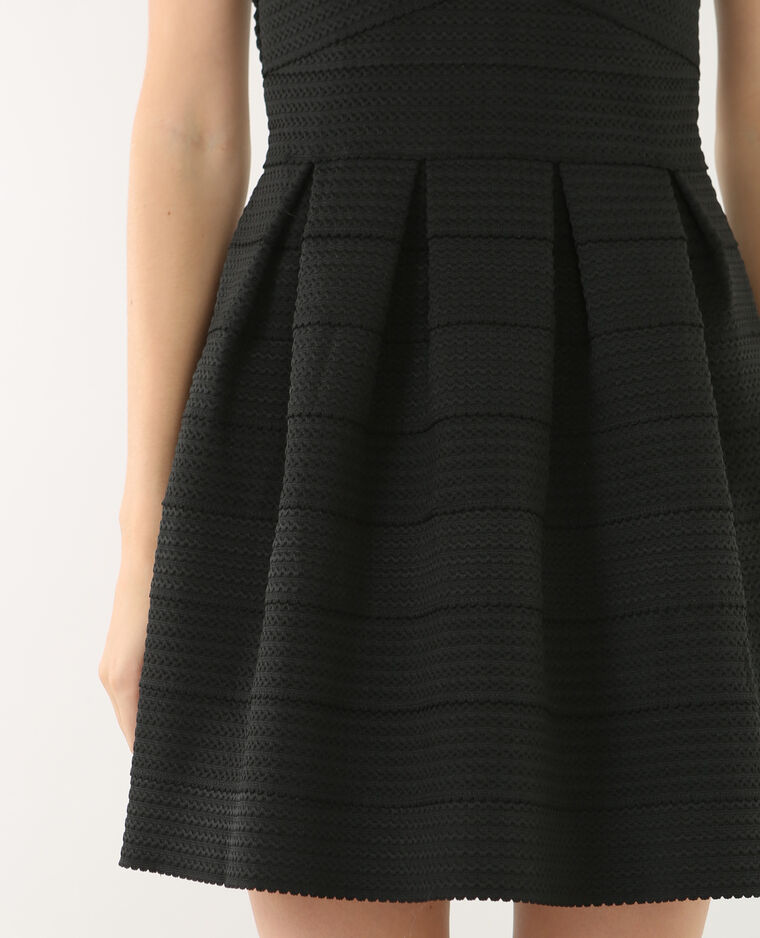 Robe bustier structurée noir