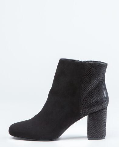 Boots effetto pitone nero