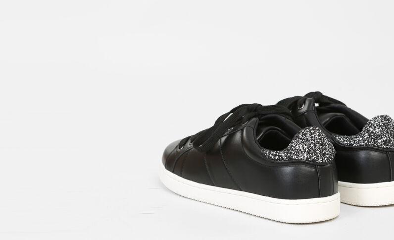 Baskets dos glitter noir