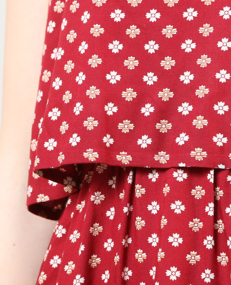 Robe volantée rouge