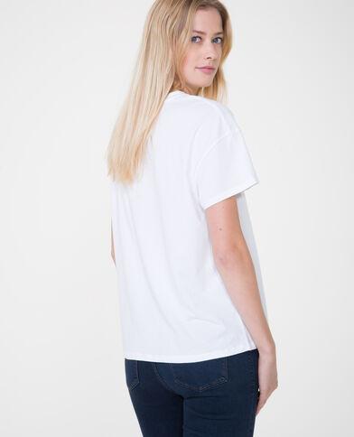 Bedrucktes T-Shirt Naturweiß
