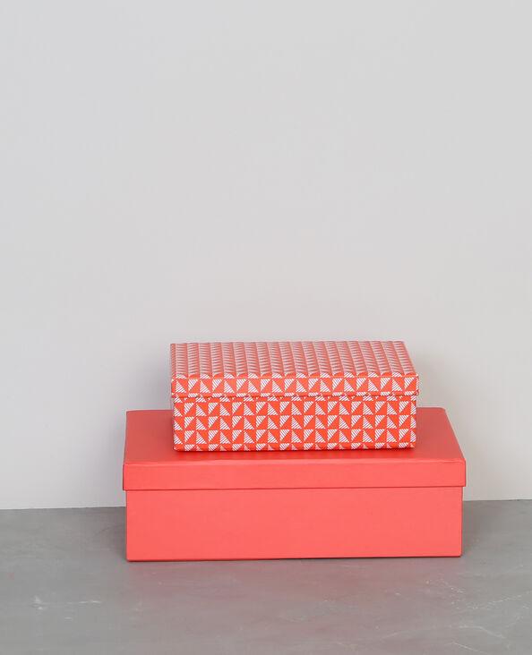 Lotto da 2 scatole in cartone rosa