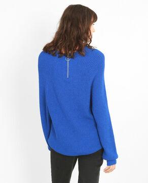 Lange trui elektrisch blauw