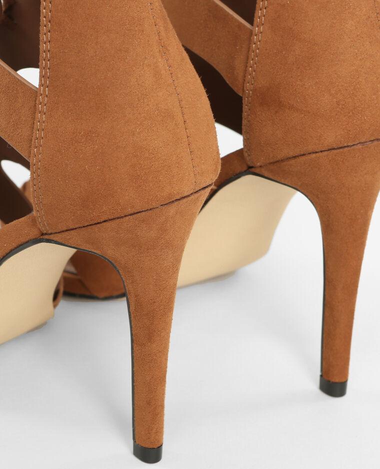 sandaletten mit absatz kastanienbraun 988098747a07 pimkie. Black Bedroom Furniture Sets. Home Design Ideas