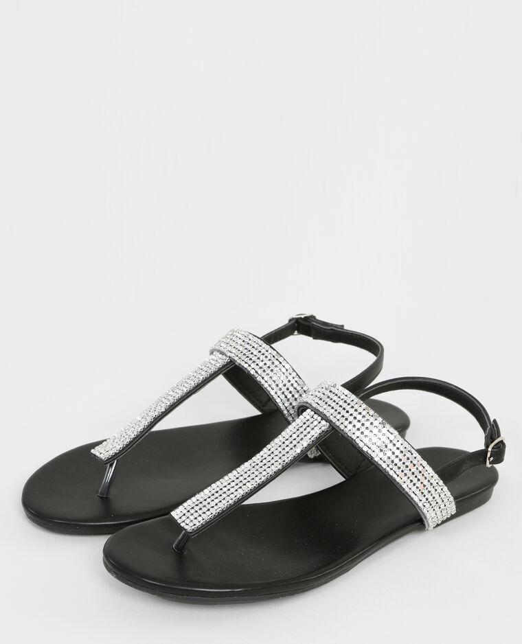 offene sandalen mit strass schwarz 988083899a08 pimkie. Black Bedroom Furniture Sets. Home Design Ideas