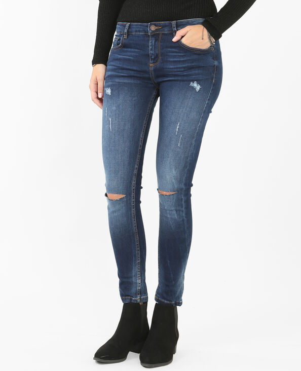 Destroy-Jeggings Blau