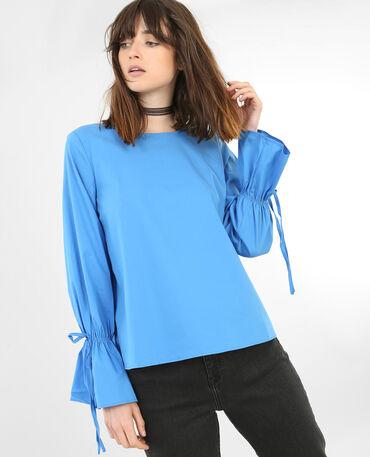 - Blusa maniche a pagoda. blu