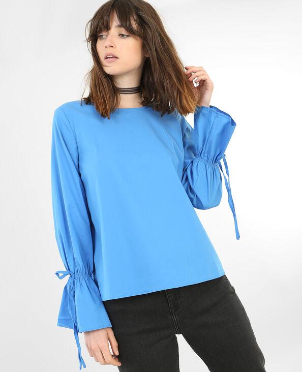 Blusa manga pagoda azul