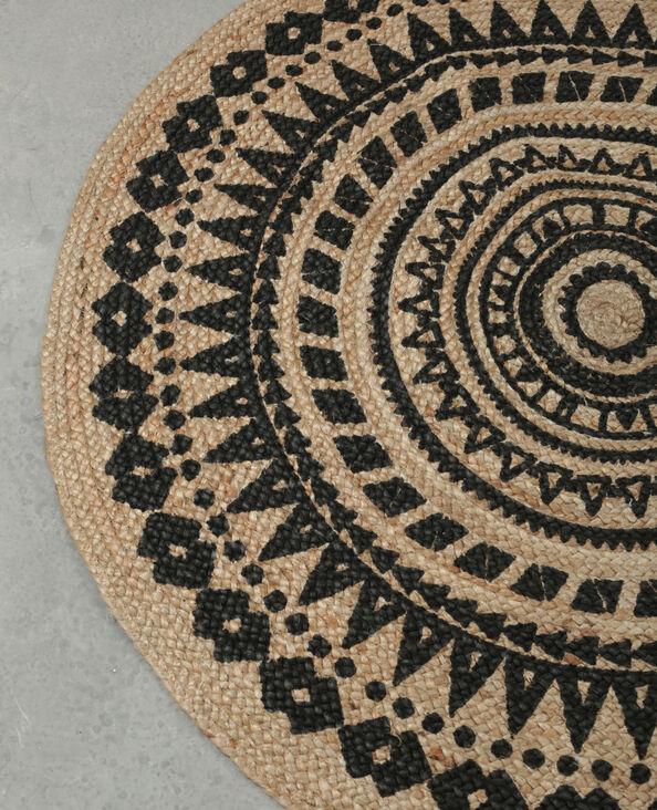 Mandala-Teppich Naturweiß