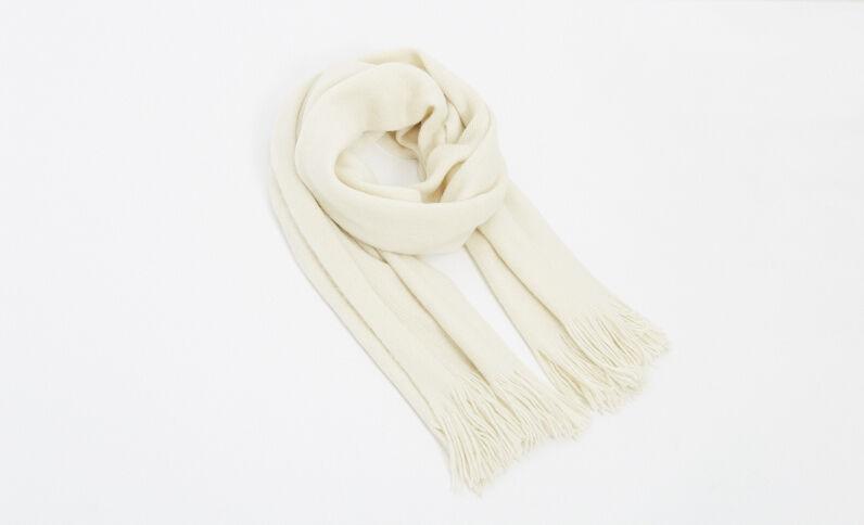Weicher Schal Naturweiß