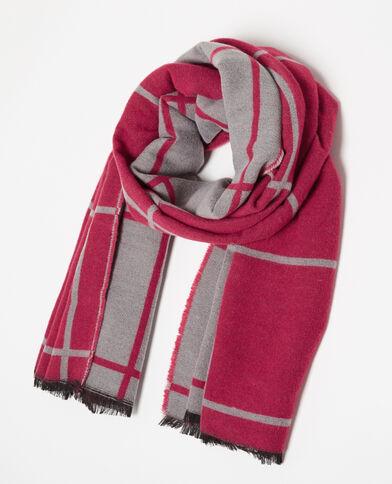 Sciarpa bicolore rosa