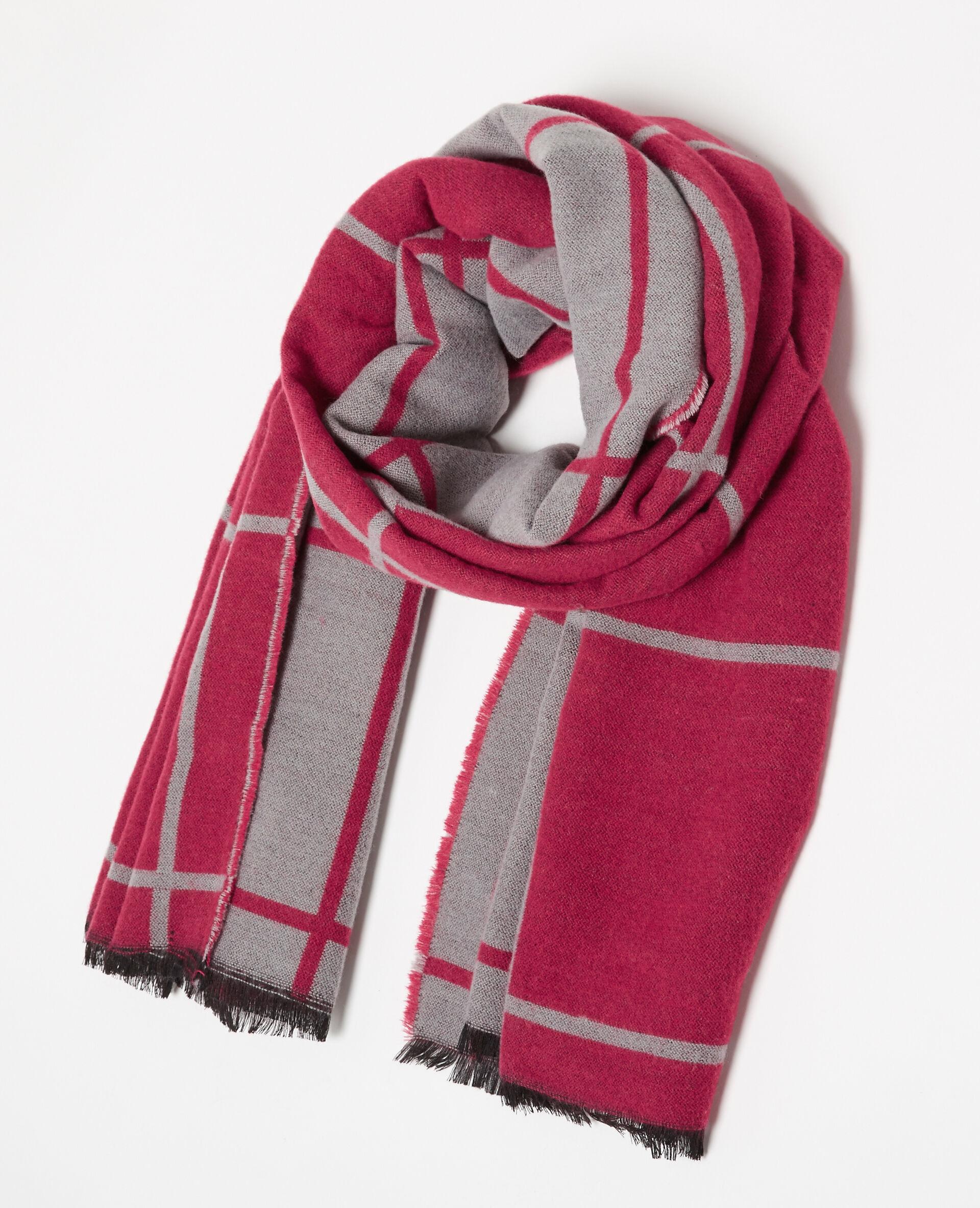 bufanda de dos colores rosa