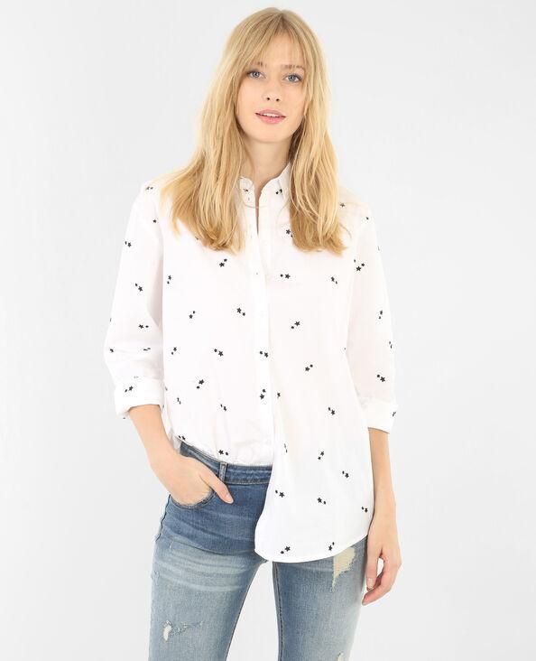 Camisa bordada con estrellas blanco
